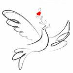 duif met hartje